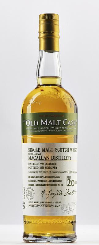 Macallan 20 Year Old by Old Malt Cask $2,080