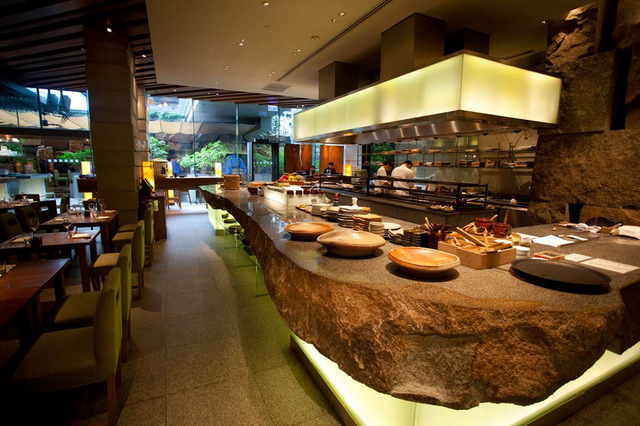 The interiors are as cool as the food at Zuma Bangkok.
