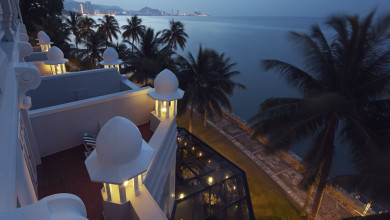 The Heritage Wing, E & O Hotel, Penang - A spot to enjoy sunset cocktails