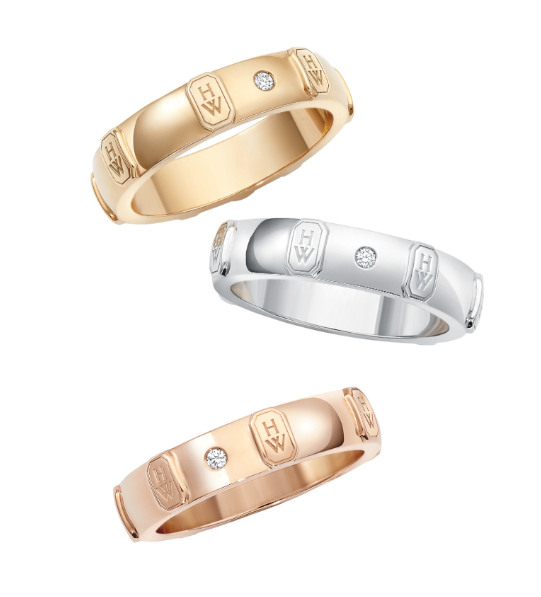 Shine bright harry winstons hw logo collection lifestyle asia harry winston hw wedding band junglespirit Image collections