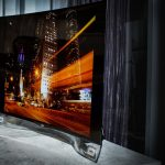 Curved lines: LG OLED TV - the TV
