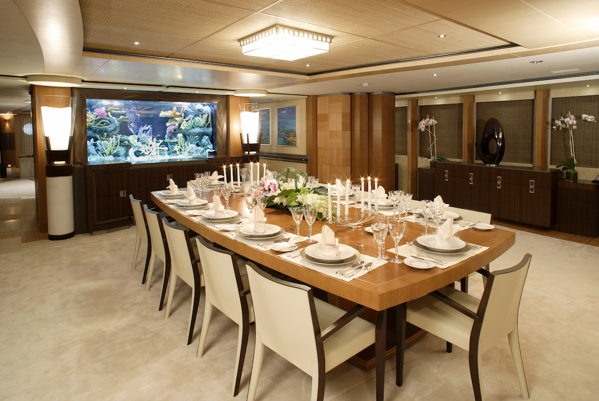 Onboard two of the coolest yachts at the singapore yacht for Table design yacht