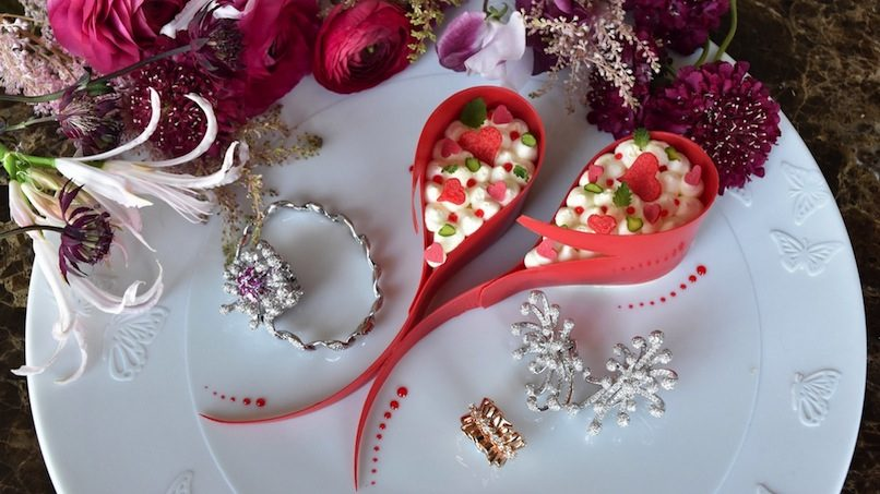 V-day jewellery and desserts