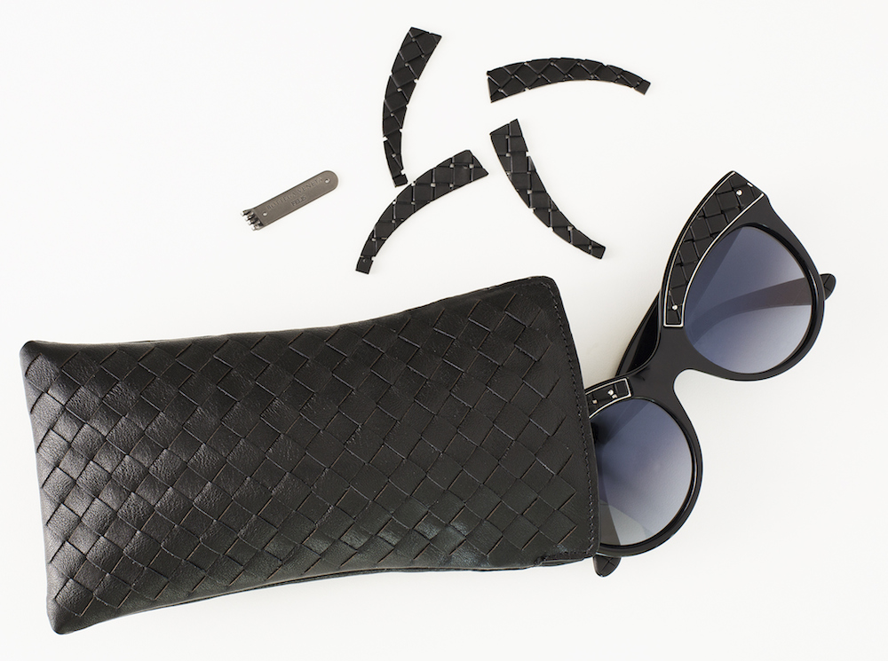 e0d0fba7b2 BV IMG 5290 The Felis feature the world s thinnest polarised mineral lenses  and come in a customised hand-woven leather case. The Bottega Veneta limited  ...