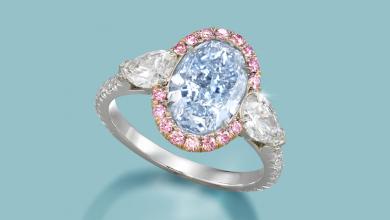 Bonhams Scott West ring featured image Rare 3.04 carat, VS2 clarity, fancy intene blue diamond and diamond ring, by Scott West copy 2