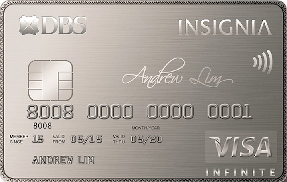 dbs insignia visa infinite card copy - Metal Visa Card
