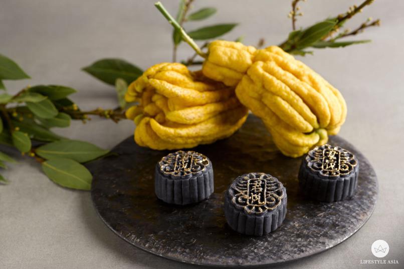 Grand Hyatt Singapore mooncakes Black Sesame, Buddha's Hand Truffle Snowskin copy