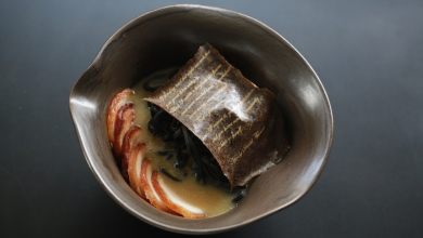 Janice Wong Singapore Charcoal Crispy collagen noodle Mushroom Poem 4 copy