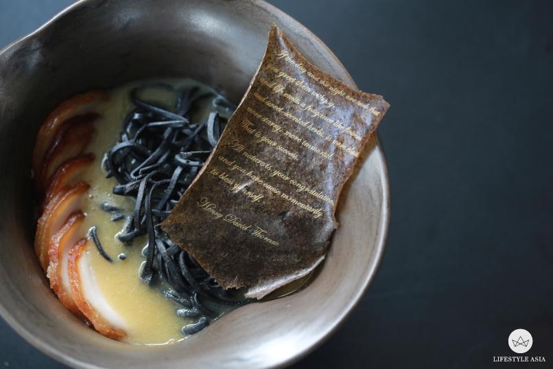 Janice Wong Singapore Charcoal Crispy collagen noodle Mushroom Poem copy