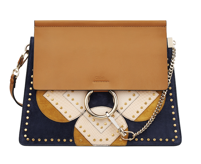 FAYE BAG IN FLOWER PATCHWORK PYTHON, SUEDE and CALFSKIN