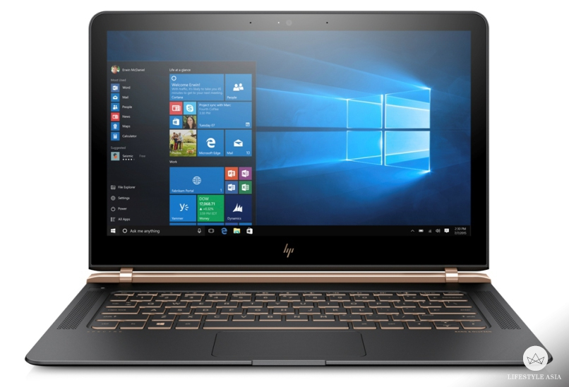 The HP Spectre is screen is a 13.3-inch HD IPS display with ultra wide angles.