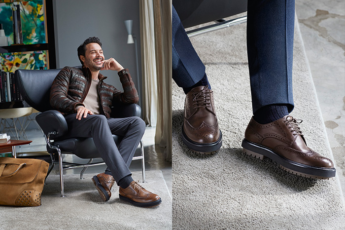 With a quarter of Italian ancestry, Jack Huston looks at ease dressing head-to-toe in the Italian brand's new collection.