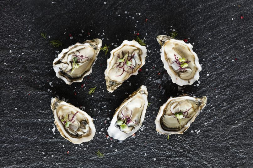 Imported oysters are a fine start to any meal.