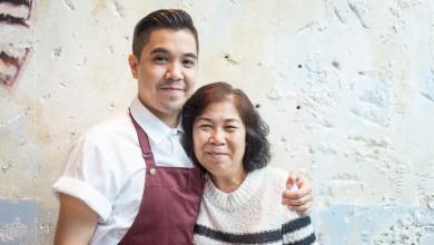 Helming Le Garçon Saigon: The boy and his mum