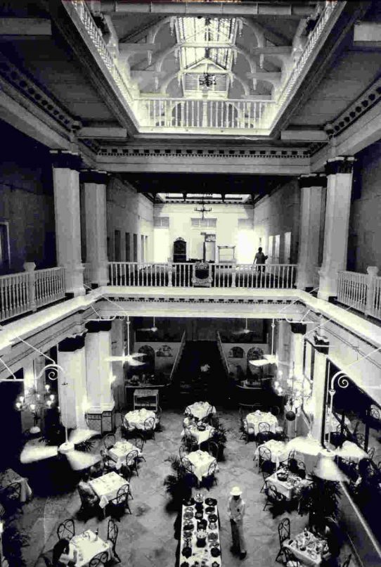 Raffles Hotel Singapore old Lobby_B&W copy