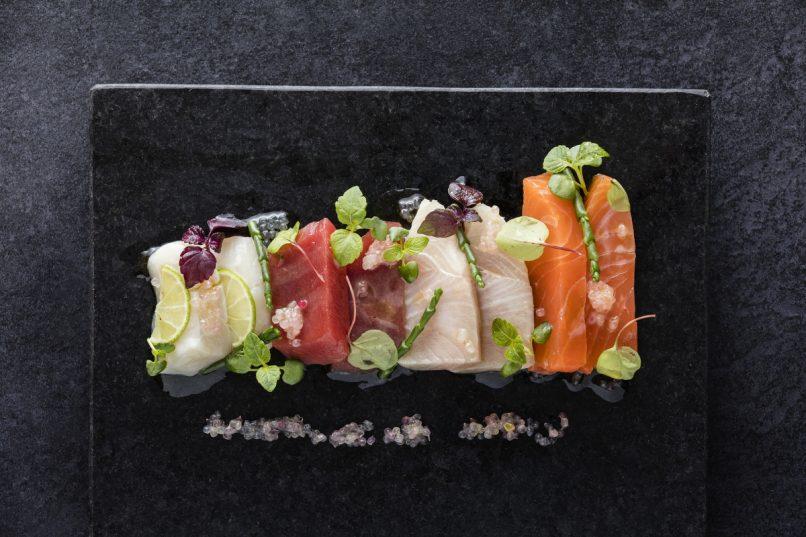 A beautiful selection of sashimi.