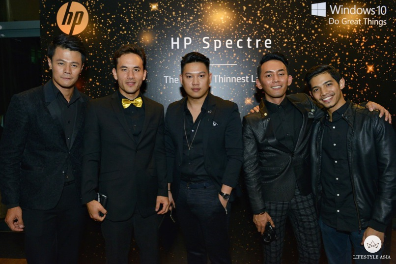 Suave in black, these gentlemen graced our exclusive launch event for the HP Spectre.