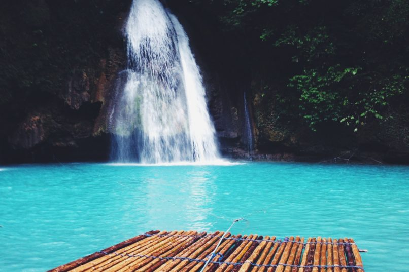 Kawasan Falls is a cascade of turquoise water in the middle of the jungle.  Photo credit: vacayhack.com